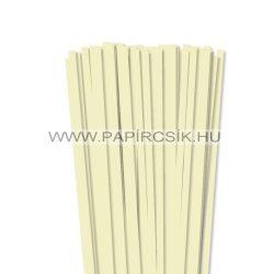 Vanília, 7mm-es quilling papírcsík (80db, 49cm)