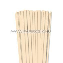 Krém, 7mm-es quilling papírcsík (80db, 49cm)