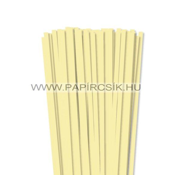Halványsárga, 7mm-es quilling papírcsík (80db, 49cm)