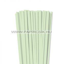 Halványzöld, 7mm-es quilling papírcsík (80db, 49cm)