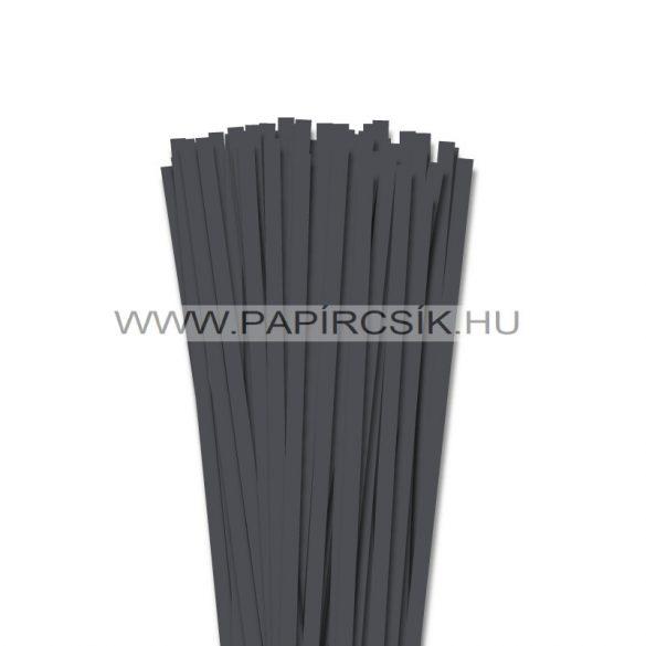 Antracit, 7mm-es quilling papírcsík (80db, 49cm)
