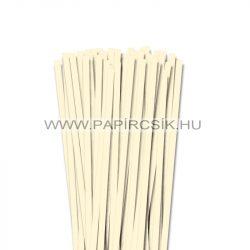 Elefántcsont, 7mm-es quilling papírcsík (80db, 49cm)