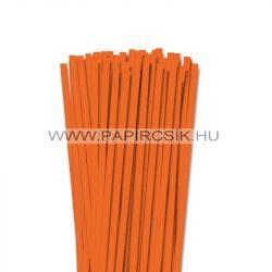 Világos narancs, 7mm-es quilling papírcsík (80db, 49cm)