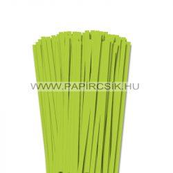Tavaszi zöld, 7mm-es quilling papírcsík (80db, 49cm)