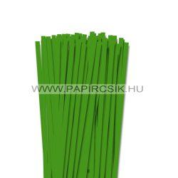 Zöld, 7mm-es quilling papírcsík (80db, 49cm)