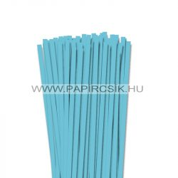 Aqua kék, 7mm-es quilling papírcsík (80db, 49cm)