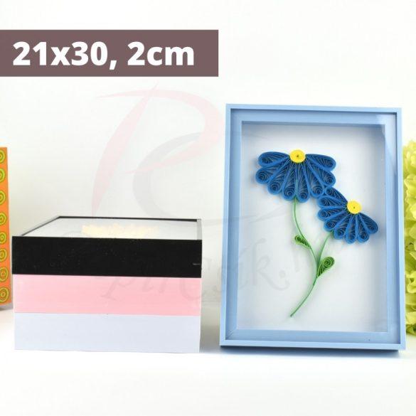 Quilling képkeret - Kék (21x30, 2cm)