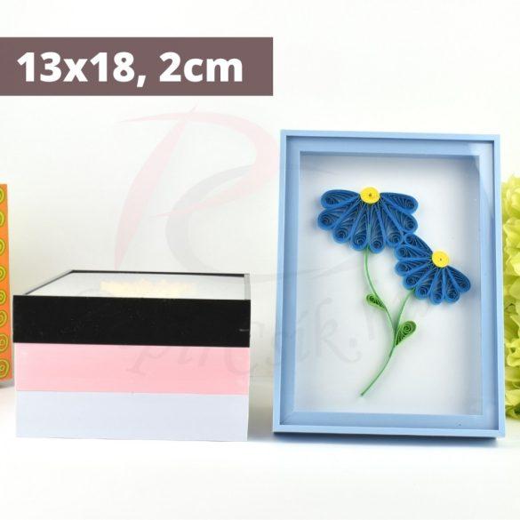 Quilling képkeret - Kék (13x18, 2cm)