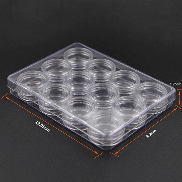 Műanyag tégely csavaros (15x30mm, 12db)