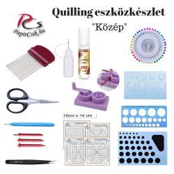 Quilling eszközkészlet, szett (III. - Közép)