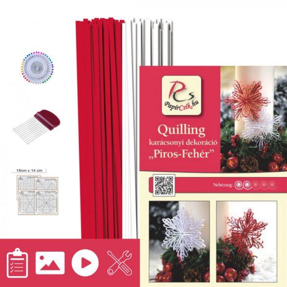 Rot-Weiß - Quilling Muster (200 Stück Streifen, Beschreibung, Werkzeuge)