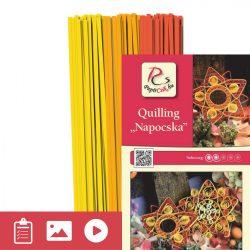 Napocska - Quilling minta (240db csík 8db mintához és leírás képekkel)