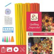 Sonne - Quilling Muster (240 Stück Streifen, Beschreibung, Werkzeuge)