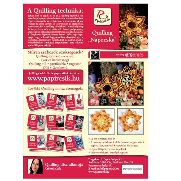 Slniečko - Quilling vzor (240 prúžkov a popis s obrázkami)