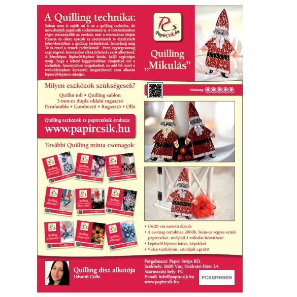 Mikulás - Quilling minta (200db csík 5db mintához és leírás képekkel)