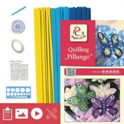 Pillangó - Quilling minta (210db csík 3 mintához, leírás, eszközök)