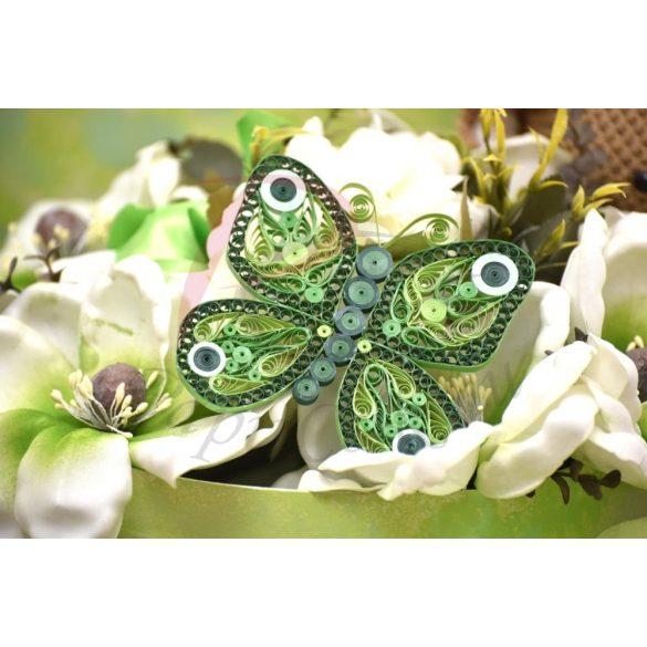 Pillangó - Quilling minta (210db csík 3 mintához és leírás képekkel)