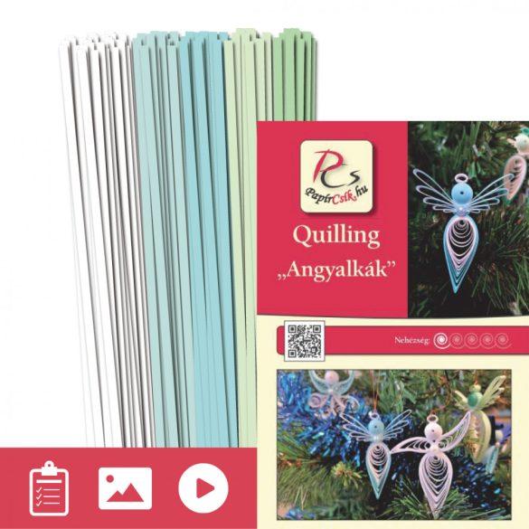 Angyalkák - Quilling minta (130db csík 20db mintához és leírás képekkel)
