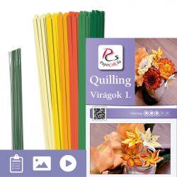 Virágok 1. - Quilling minta (220db csík 8db mintához és leírás képekkel)