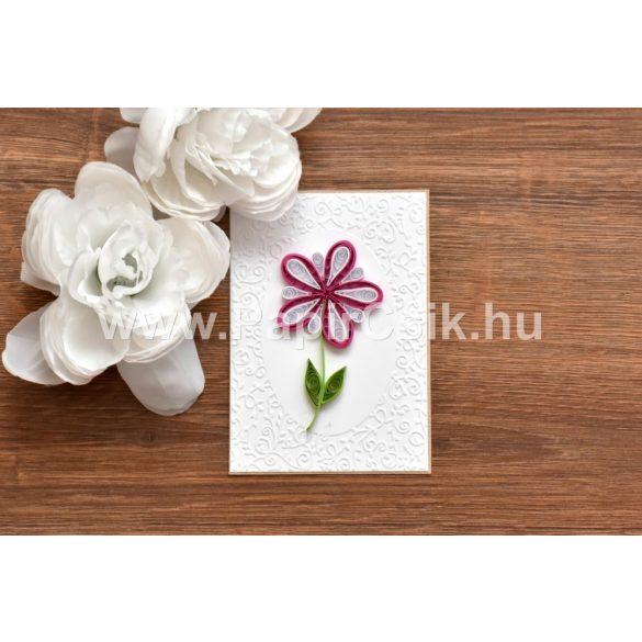 Virágok 2. - Quilling minta (200db csík 18db mintához, leírás, eszközök)