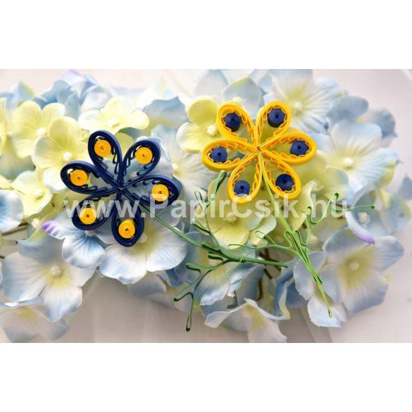 Virágok 2. - Quilling minta (200db csík 18db mintához és leírás képekkel)
