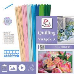 Blumen 3. - Quilling Muster (220 Stück Streifen, Beschreibung, Werkzeuge)