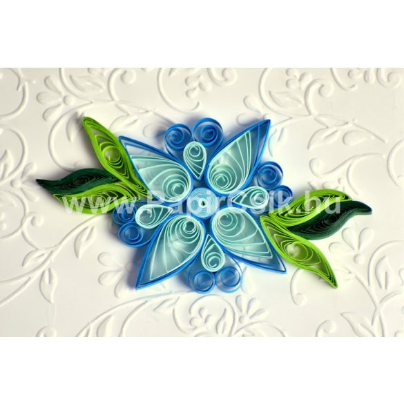 Virágok 3. - Quilling minta (220db csík 20db mintához és leírás képekkel)