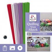 Vízi Állatok - Quilling minta (190db csík 12db mintához és leírás képekkel)