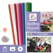 Nyuszik - Quilling minta (200db csík 2db mintához és leírás képekkel)