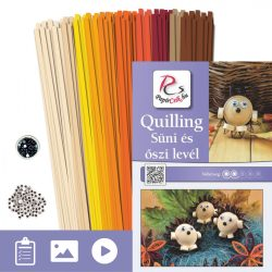 Süni és levél - Quilling minta (200db csík 23db mintához és leírás képekkel)