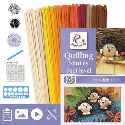 Süni és levél - Quilling minta (200db csík 23db mintához és leírás, eszközök)