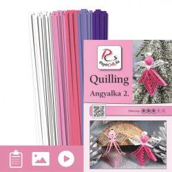 Angyalkák 2. - Quilling minta (130db csík 25db mintához és leírás képekkel)
