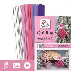Engelchen 2. - Quilling Muster (130 Stück Streifen und Beschreibung mit Bilder)
