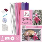 Angyalkák 2. - Quilling minta (130db csík 25db mintához és leírás, eszközök)