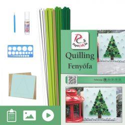 Fenyőfa - Quilling minta (60db csík egy mintához, leírás, eszközök)