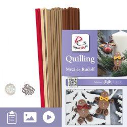 Mézi és Rudolf - Quilling minta (170db csík 5-5db mintához és leírás képekkel)