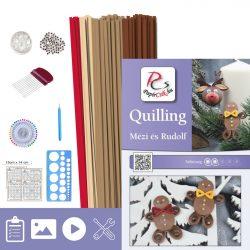Lebkuchen und Ren Rudolf - Quilling Muster (170 Stück Streifen und Beschreibung, Werkzeuge)