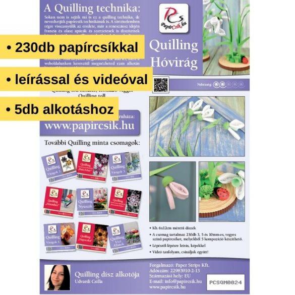 Hóvirág - Quilling minta (230db csík 5db mintához és leírás képekkel)