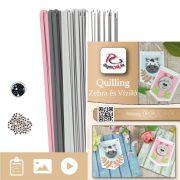 Zebra és Víziló  - Quilling minta (190db csík 4db mintához és leírás képekkel)