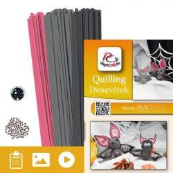 Denevérek  - Quilling minta (200db csík, 5-5db mintához és leírás képekkel)