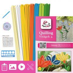 Virágok 4. - Quilling minta (190db csík 5-5db mintához és leírás, eszközök)