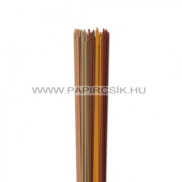 Barna árnyalatok, 2mm-es quilling papírcsík (5x20, 49cm)