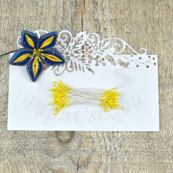 Virág Bibe (sárga, 1mm, 200db)