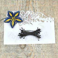 Virág Bibe (fekete, 1mm, 50db)