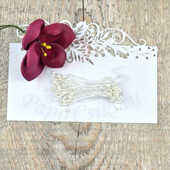 Virág Bibe (fehér, 3mm, 50db)