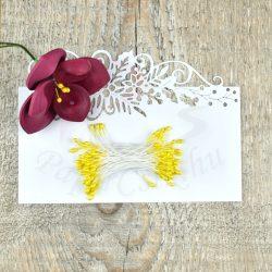 Virág Bibe (sárga, 3mm, 150db)