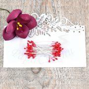Virág Bibe (piros, 3mm, 50db)