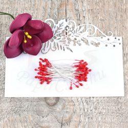 Virág Bibe (piros, 3mm, 150db)