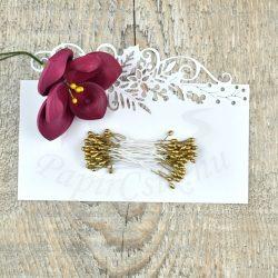 Virág Bibe (arany, 3mm, 50db)