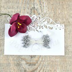 Virág Bibe (ezüst, 3mm, 150db)